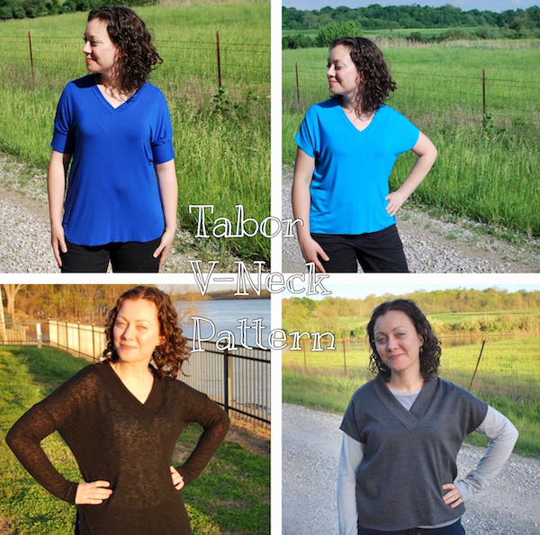 Pattern Review Tabor VNeck by Sew House 60 oak blue designs Custom Pattern Review